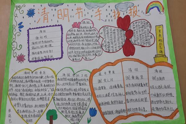 圃田乡中心小学举行清明节主题手抄报活动图片