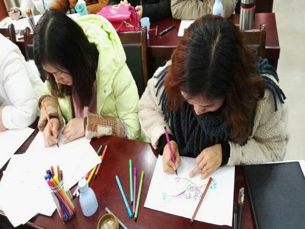 师们绘制出精美的思维导图-寒冬, 思维导图 暖大脑郑东新区教育信