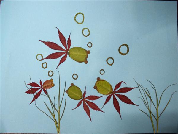 花瓣树叶贴画图片大全-亲近自然 描绘春天郑东新区教育信息网