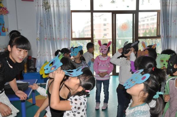 幼儿园面具绘画图片