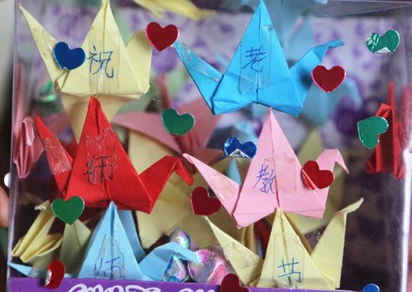 小小千纸鹤承载着世界上最美得语言