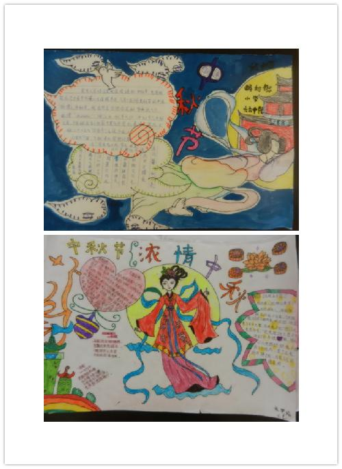 中秋手抄报-我是中国人 我过中国节 畅和街小学 我们的节日 中秋 活动