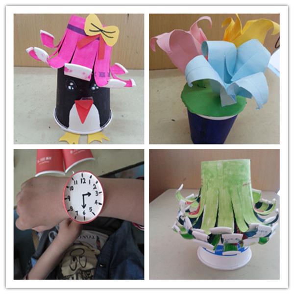 小学生手工简单�9��.�_原来是畅和街小学一二年级手工社团的学生们在做创意